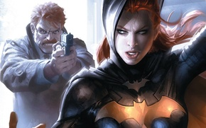 Picture DC Comics, James Gordon, batgirl, Barbara Gordon
