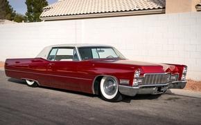 Picture retro, Cadillac, classic, Coupe, the front, 1968, DeVille