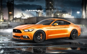 Picture Mustang, Ford, power, Juggernaut, yasiddesign