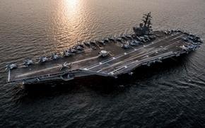 Wallpaper ship, army, Navy, USS Ronald Reagan (CVN 76)
