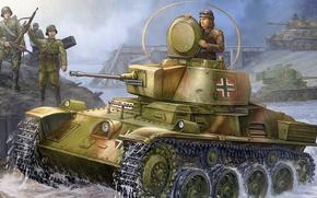 Picture figure, art, Hungarian light tank, Toldi, 38M Toldi, 38M