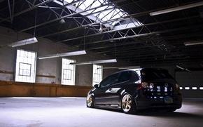 Picture volkswagen, black, golf, Volkswagen, gti, MK5
