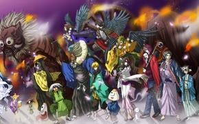 Picture demon, fire, flame, sword, game, weapon, anime, katana, army, ken, blade, asian, manga, japanese, kimono, …