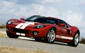 Picture the sky, red, tuning, Ford, Ford, supercar, tuning, the front, Hennessey, GT700
