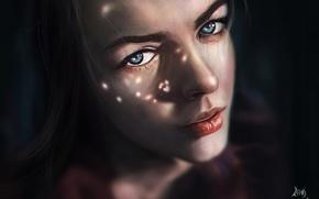 Picture girl, shadow, art, reha sakar