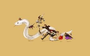 Picture snake, minimalism, anime