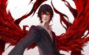 Picture look, blood, anime, art, vampire, guy, Noblesse, Cadiz of Atrama di Raizel