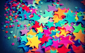 Wallpaper colored, small, stars, large