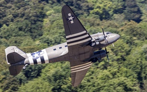 Picture the plane, military transport, C-47