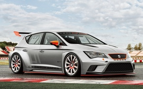 Wallpaper Racer, Seat, Leon, Cup, the front, Seat, Leon