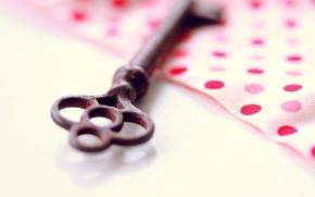 Picture shadow, polka dot, blur, key, fabric, metal