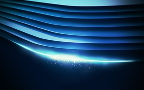 Picture line, blue, abstraction, background, wallpaper, links, cool colors