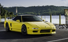 Picture yellow, Acura, NSX