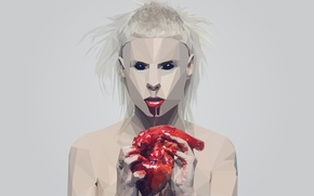 Wallpaper blood, heart, Die Antwoord, Visser Was Yolan