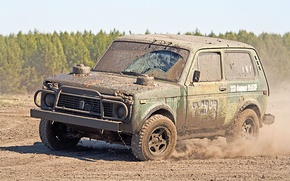 Wallpaper machine, auto, Wallpaper, race, speed, dirt, jeep, SUV, wallpaper, cars, LADA, Niva, 4x4, VAZ, 2121