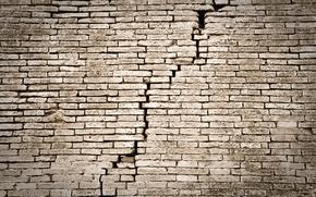Picture wall, bricks, ruins, lack of maintenance