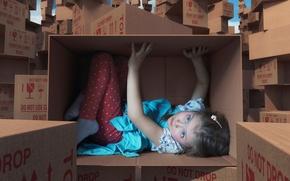 Picture fantasy, box, girl