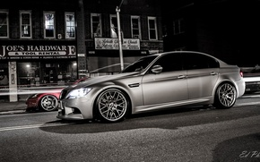 Picture night, street, BMW, bmw m3