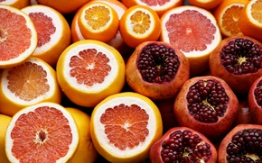 Picture Europe, Istanbul, Turkey, fruits, citrus, oranges, Istanbul, Turkey, Grapefruits, vitamin C, pomegranates