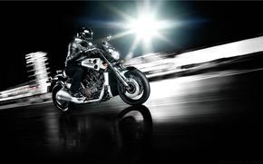 Picture Yamaha, Speed, Moto, VMAX, Powercruiser, Powerbike