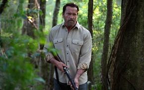 Picture weapons, man, actor, Maggie, Arnold Schwarzenegger