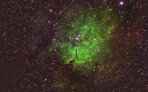 Wallpaper space, emission nebula, NGC 6820