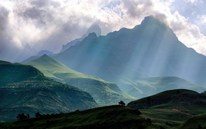 Picture clouds, nature, view, mountain