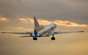Picture the sky, clouds, the plane, bomber, Backfire, TU-22M3