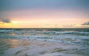 Wallpaper sea, wave, the sun, sunrise