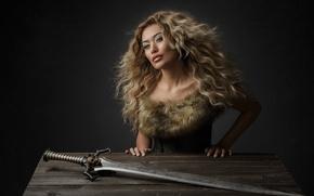 Picture sword, warrior, Yolanda