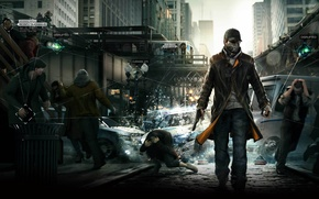 Picture gun, Chicago, Ubisoft Montreal, Watchdogs, Aiden Pearce, watch dogs