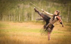 Picture field, forest, violin, violin, Lindsey Stirling, Lindsey Stirling