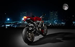 Picture the city, Moto, Night, Ducati