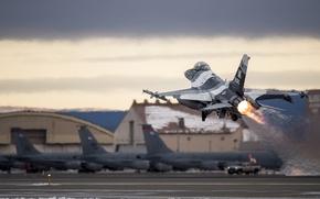 """Picture fighter, F-16, Fighting Falcon, multipurpose, """"Fighting Falcon"""""""