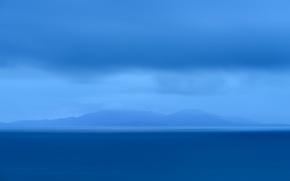 Picture ocean, seascape, water, Scotland, Neist Point, Isle of Skye, sea, blue, island, clouds