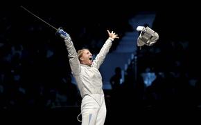 Picture emotions, Ukraine, saber, Olympic champion, fencing, Olga Harlan