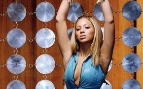Picture eyes, decoration, face, pose, eyelashes, background, hair, hands, makeup, lips, Beyonce Knowles, singer