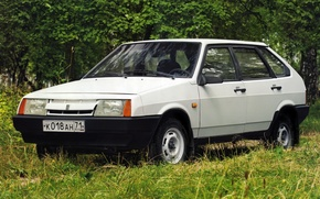 Wallpaper white, Samara, satellite, Lada, nine, hatchback, the five-door, ваз2109