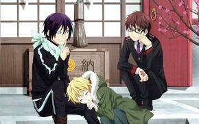 Picture noragami, Yato, Yukine, A homeless God, Kazuma
