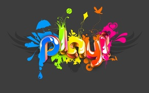 Picture color, minimalism, play