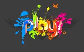 Wallpaper color, play, minimalism
