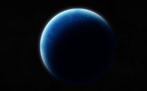Picture black, Planet, blue, shadows, Sci Fi