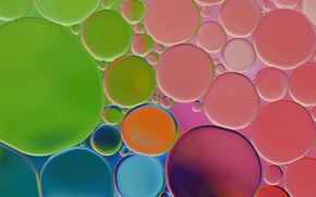 Picture water, bubbles, oil, round, the air, the volume