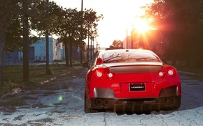 Picture red, reflection, view, nissan, back, red, Nissan, gtr, street, gtr, r35