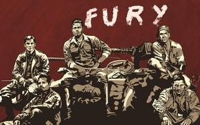 Picture tank, Brad Pitt, Brad Pitt, Rage, the crew, Fury
