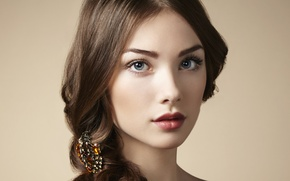 Picture look, girl, portrait, makeup, brown hair
