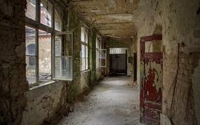 Picture Windows, interior, door, ruins