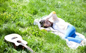 Picture Music, Guitar, Kpop, Singer, Outdoor
