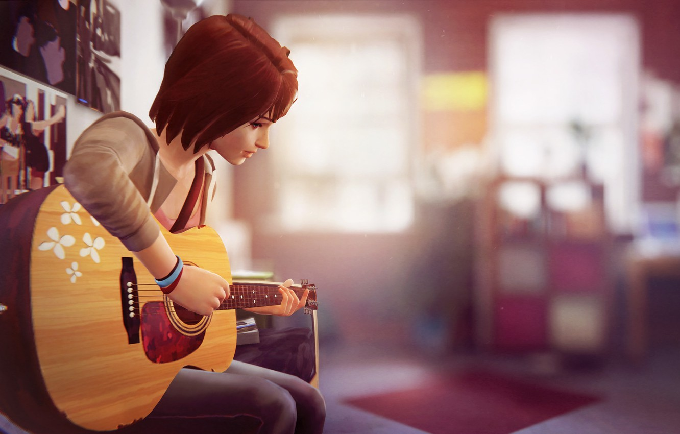 Wallpaper Guitar Life Is Strange Max Caulfield Max Caulfield