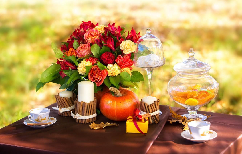 обои на рабочий стол осень цветы 5364